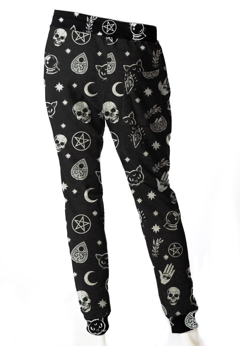 CALÇA JOGGER MOLETOM ESTAMPADA UNISSEX BLACK MAGIC