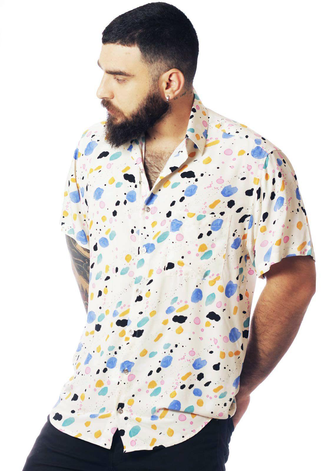 Camisa Arte Estampada ElephunK Veneza Branca