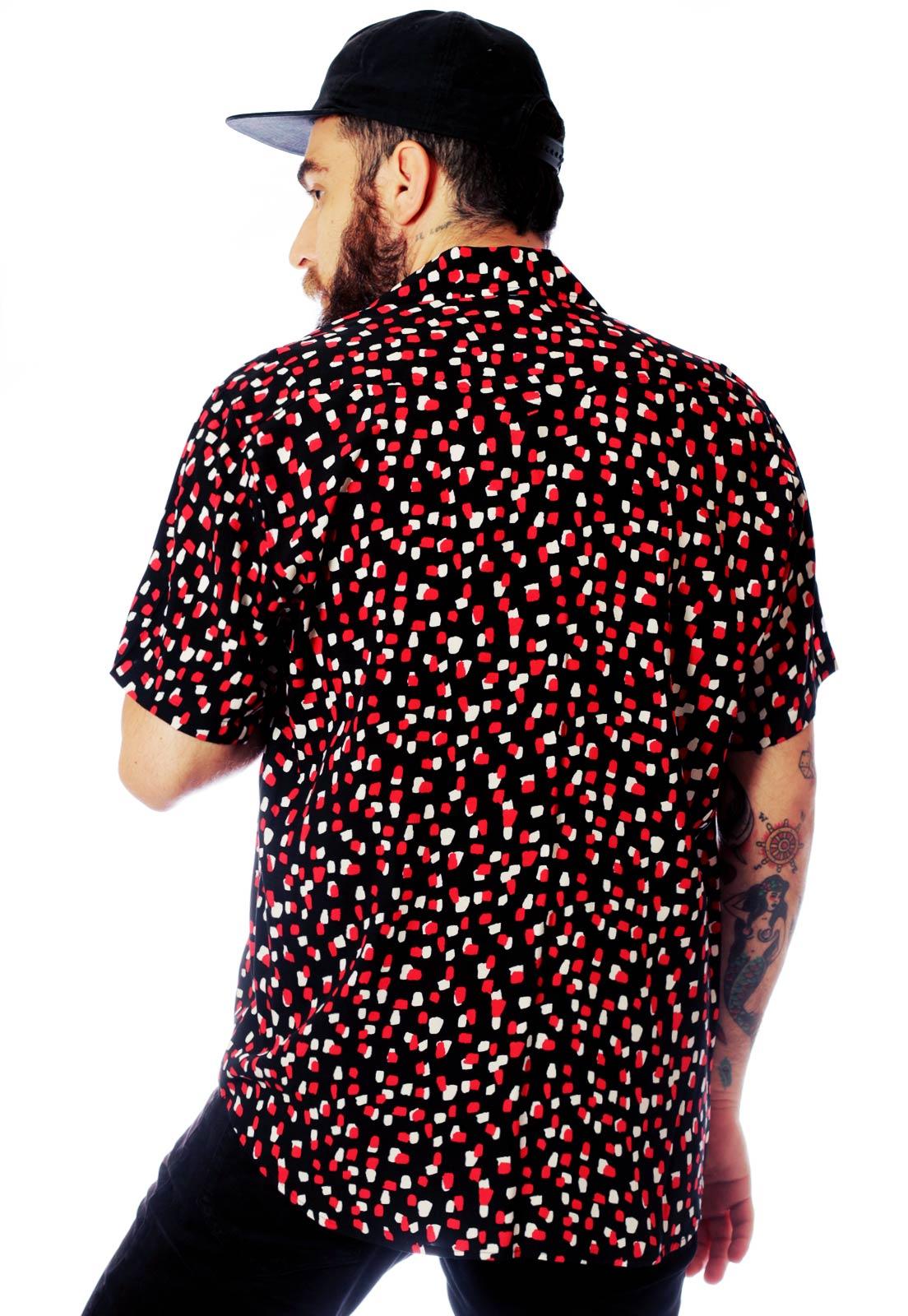 Camisa Arte Fundo Preto Estampada ElephunK Munique Preta