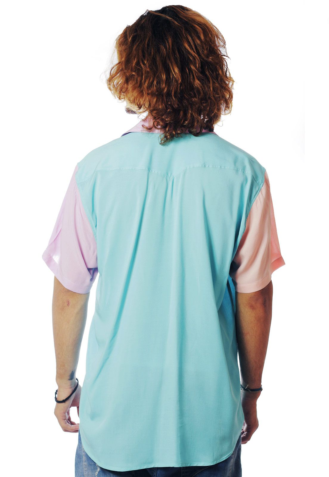 Camisa Color Block ElephunK Carnaval One Azul