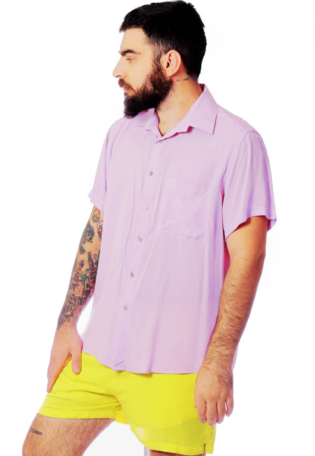 Camisa Color Block ElephunK Carnaval Purple Rain Roxa
