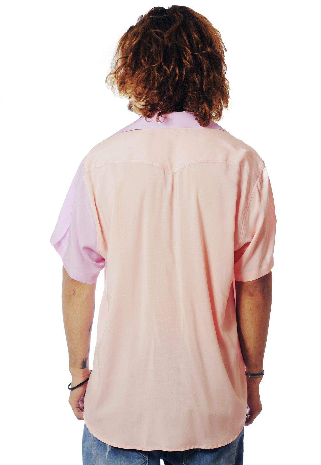 Camisa Color Block ElephunK Carnaval Rosa One Rosé