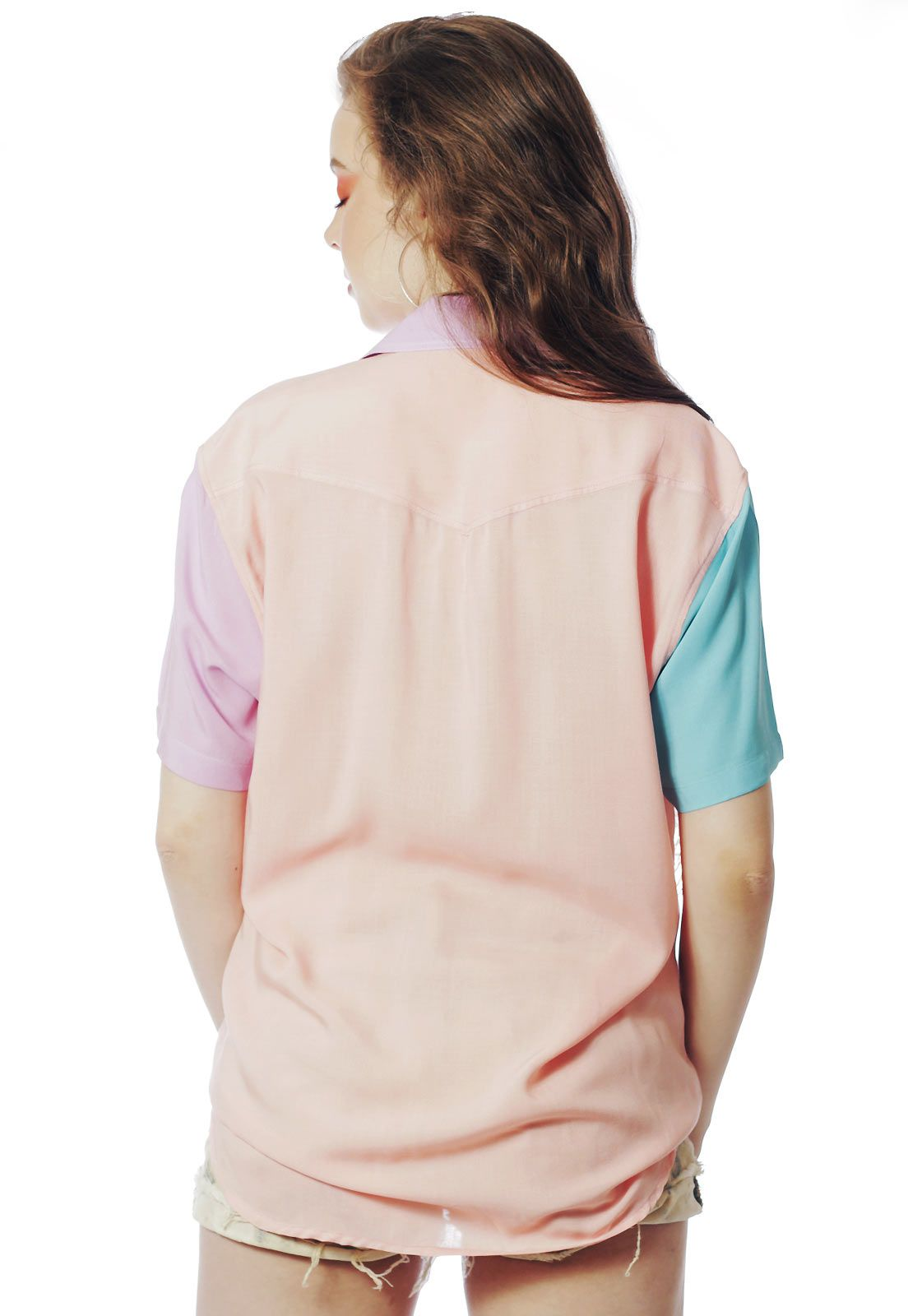 Camisa Color Block ElephunK Carnaval Rosa Two Rosé