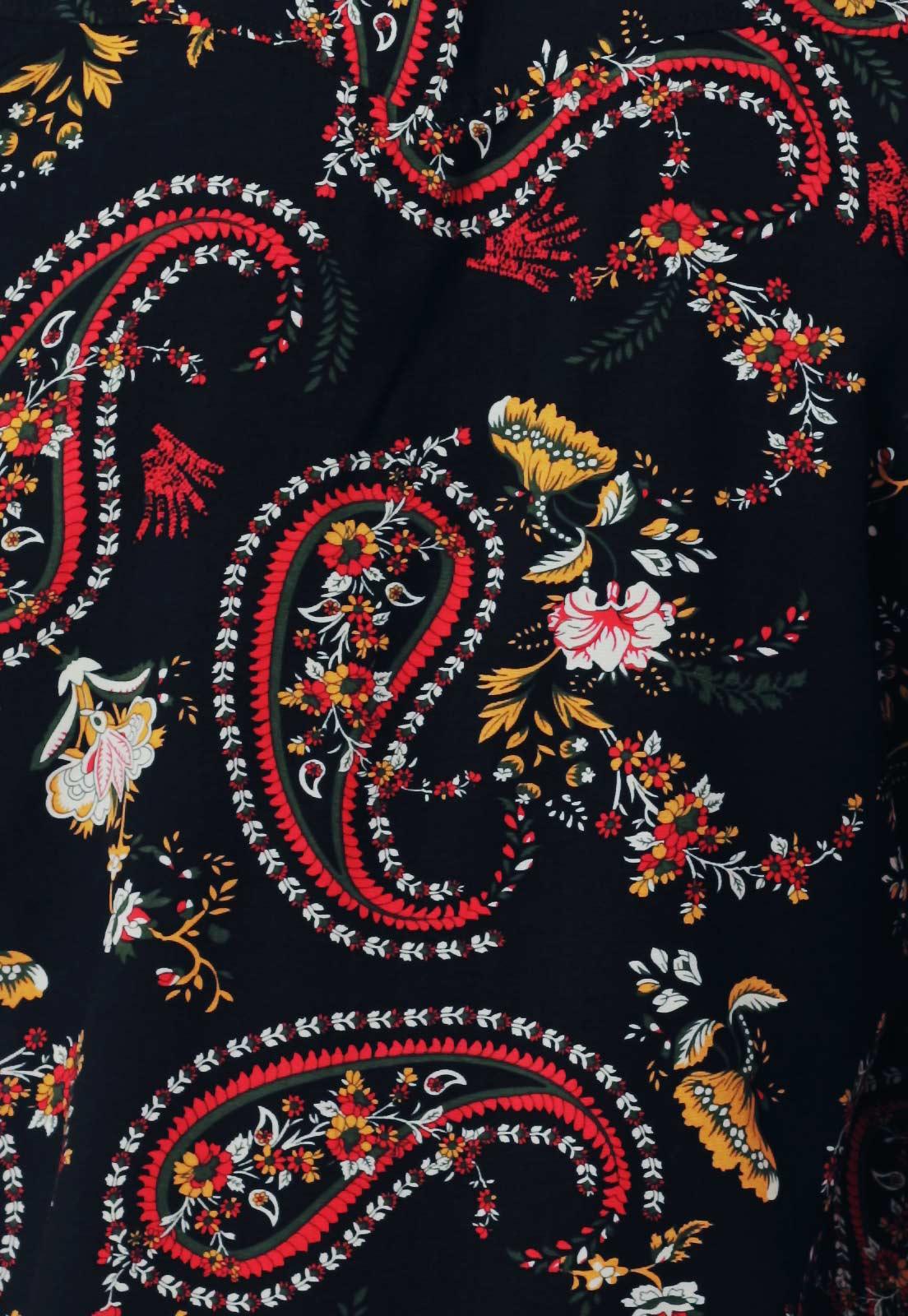 Camisa Estampada ElephunK Unissex Baba Preta