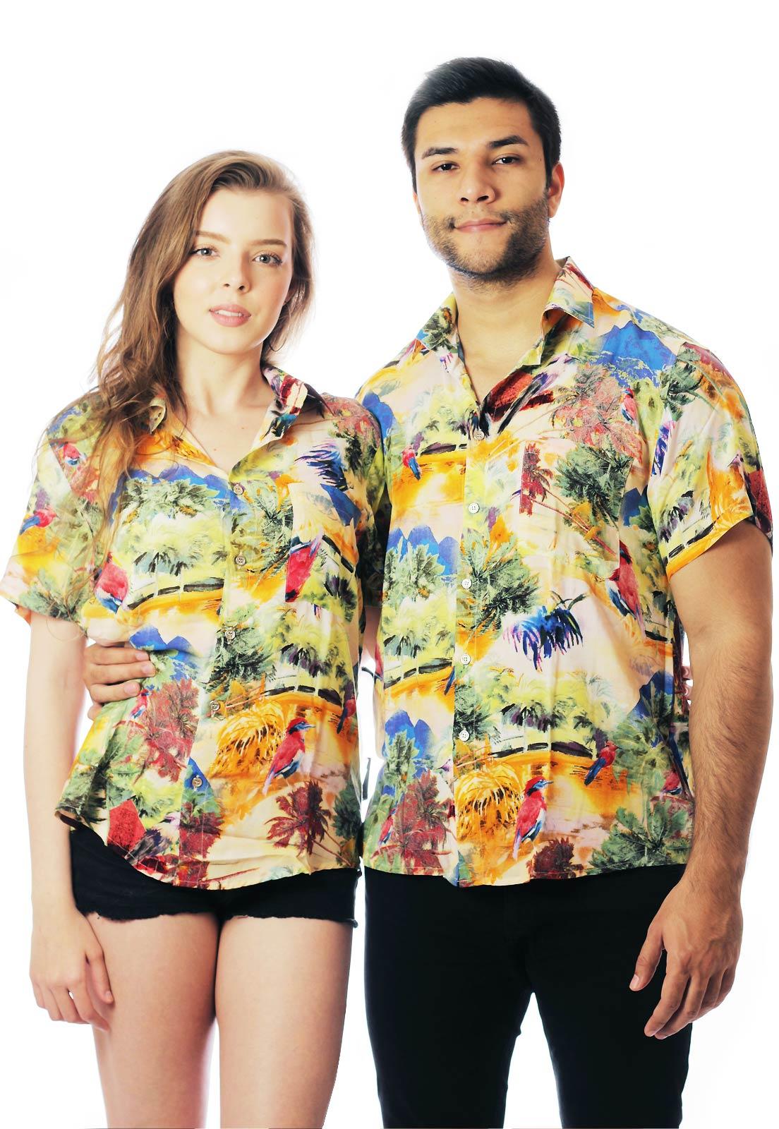 Camisa Estampada ElephunK Unissex Rio de Janeiro Creme