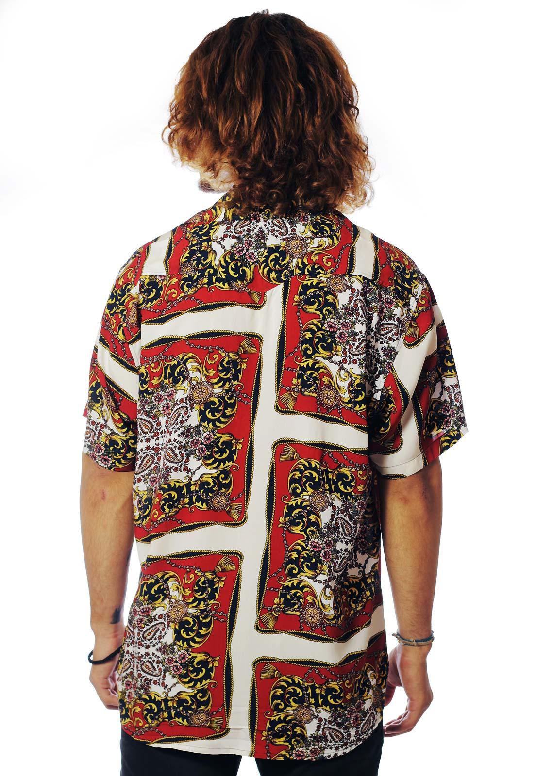 Camisa Estampada ElephunK Unissex Roma Marrom