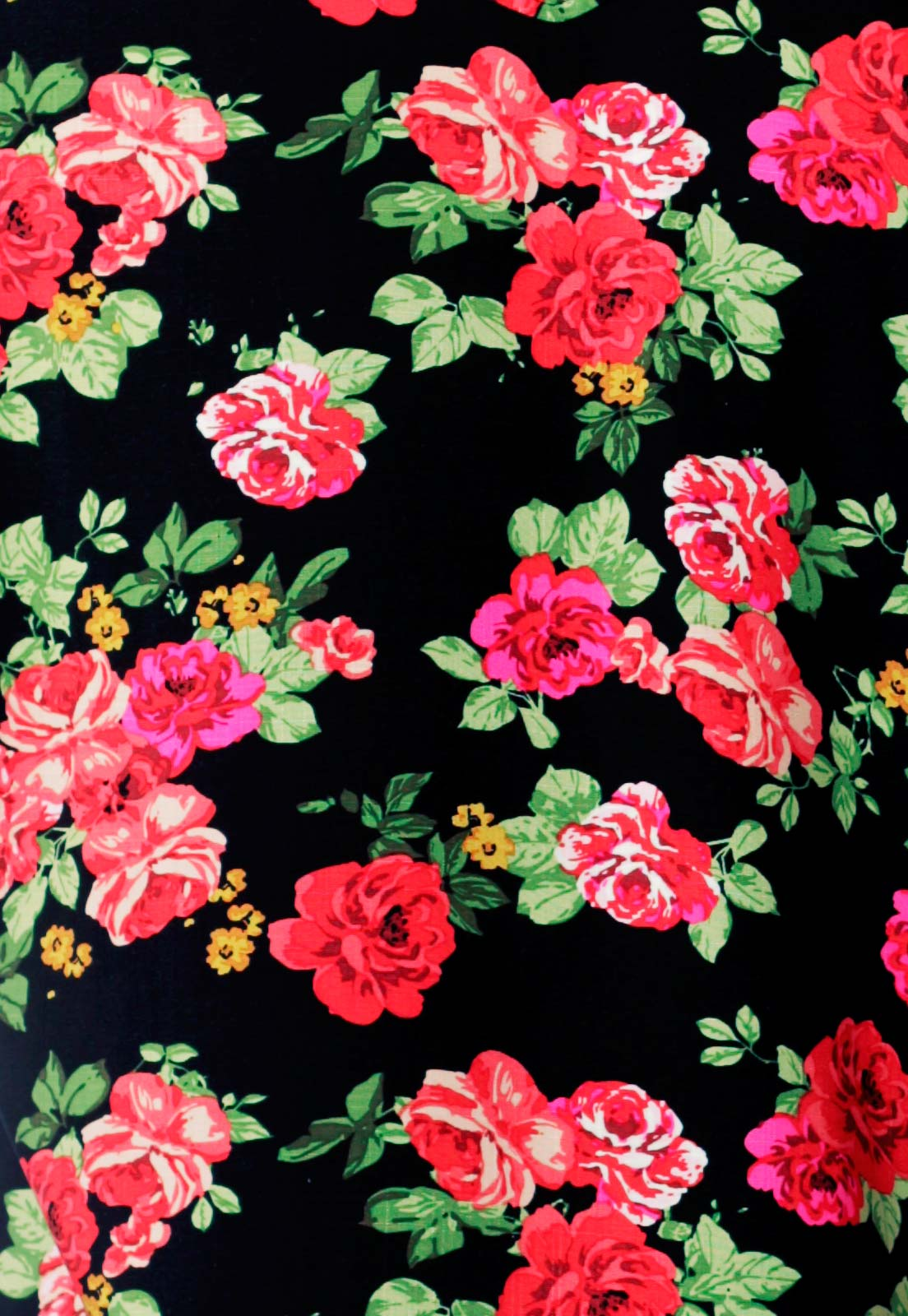 Camisa Estampada Floral ElephunK Unissex Portland Vermelha