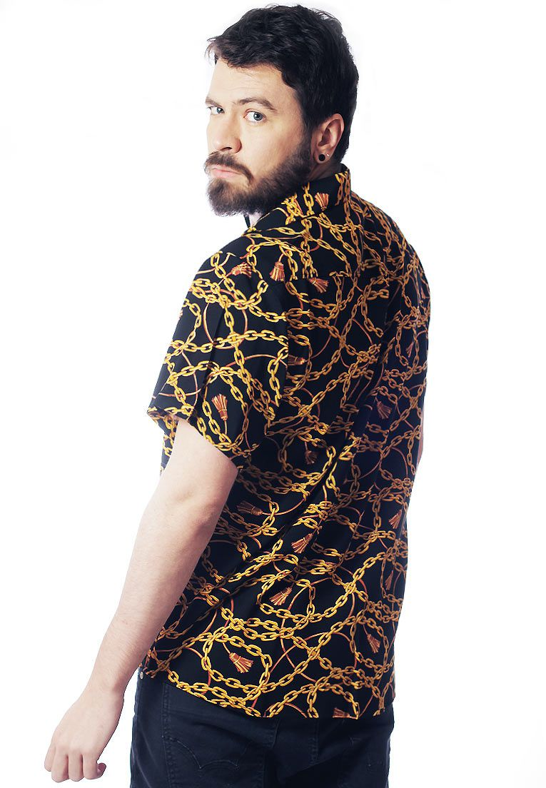 CAMISA ESTAMPADA UNISSEX CHAINS