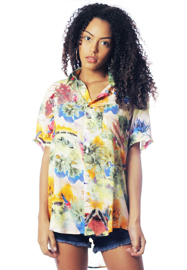 CAMISA ESTAMPADA UNISSEX UP-SIDE DOWN