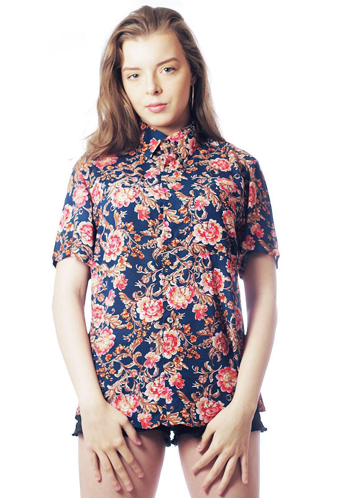 Camisa Estampada ElephunK Unissex Zurich Rosa