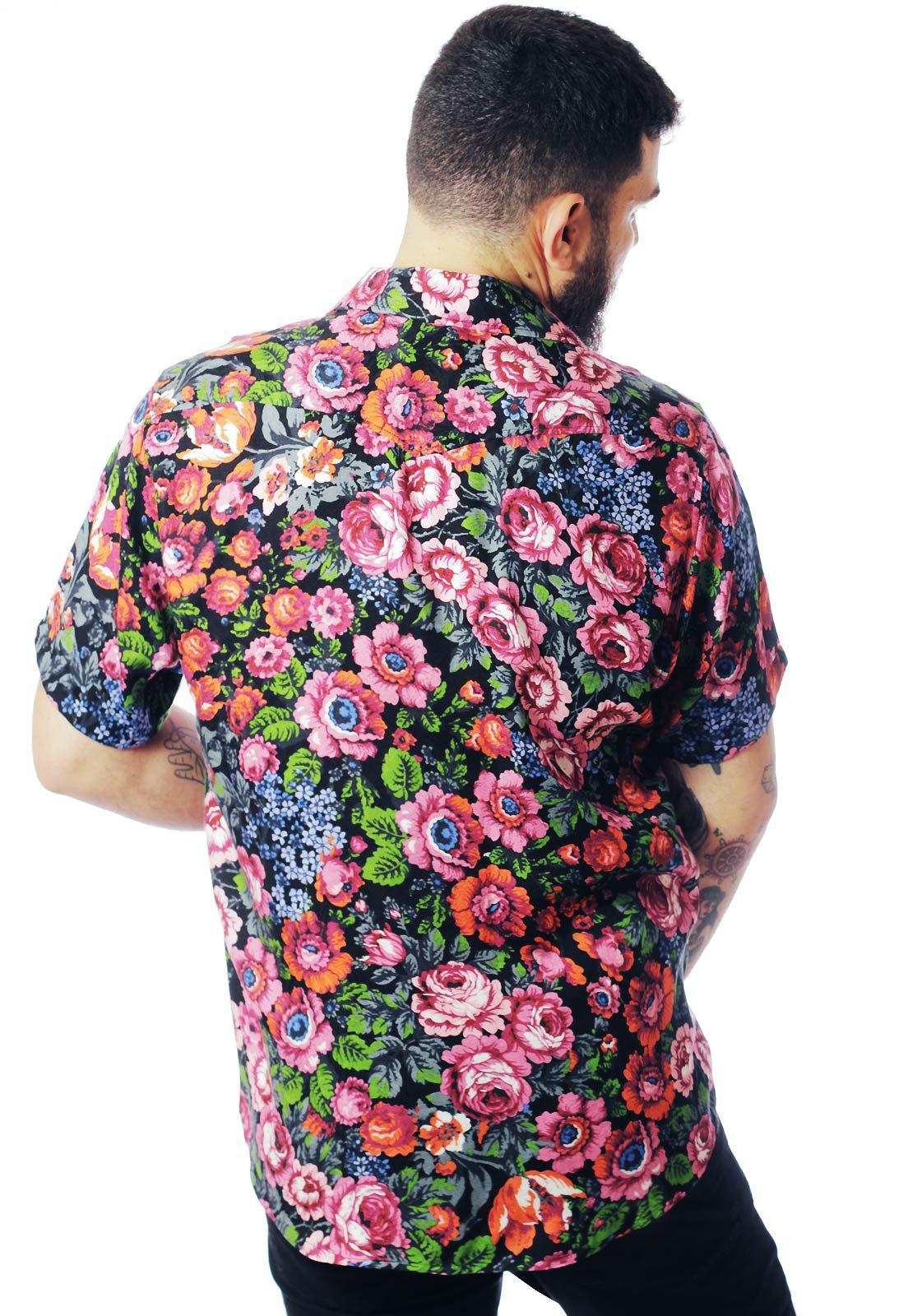 Camisa Floral Estampada ElephunK Holambra Rosa
