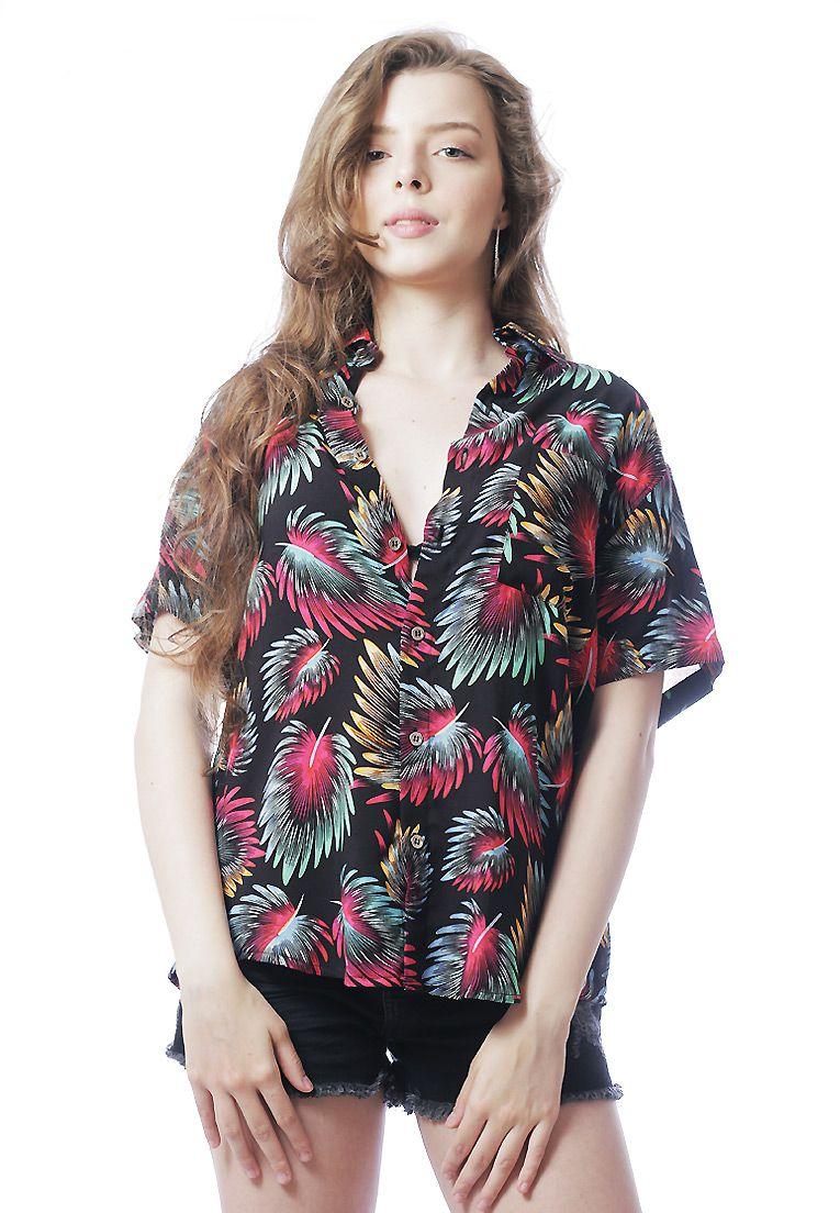 6b333734c2a1a ElephunK camisas de botao camisa floral estampada unissex girassol