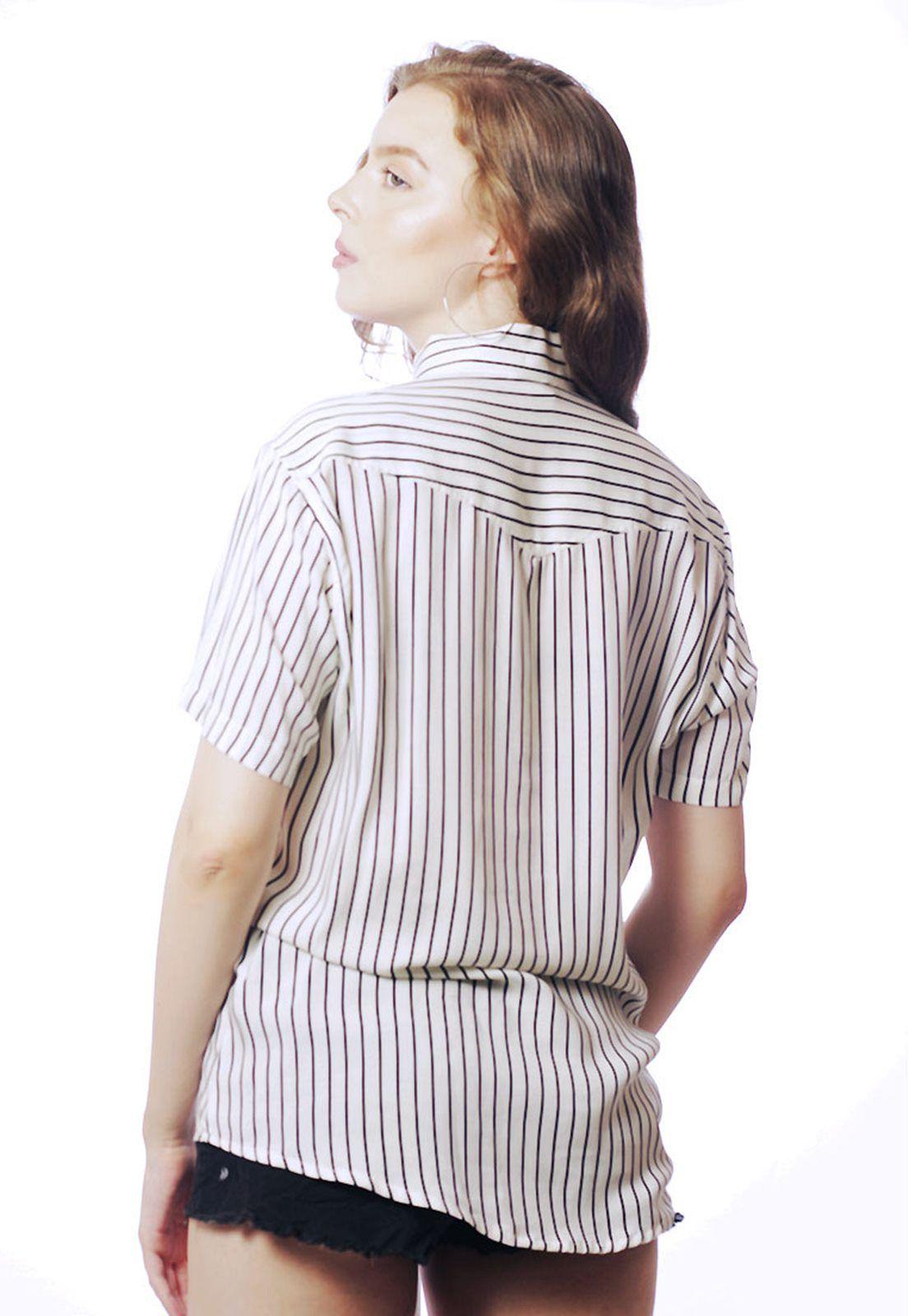 Camisa Listrada ElephunK Stripz Nineteen Branca