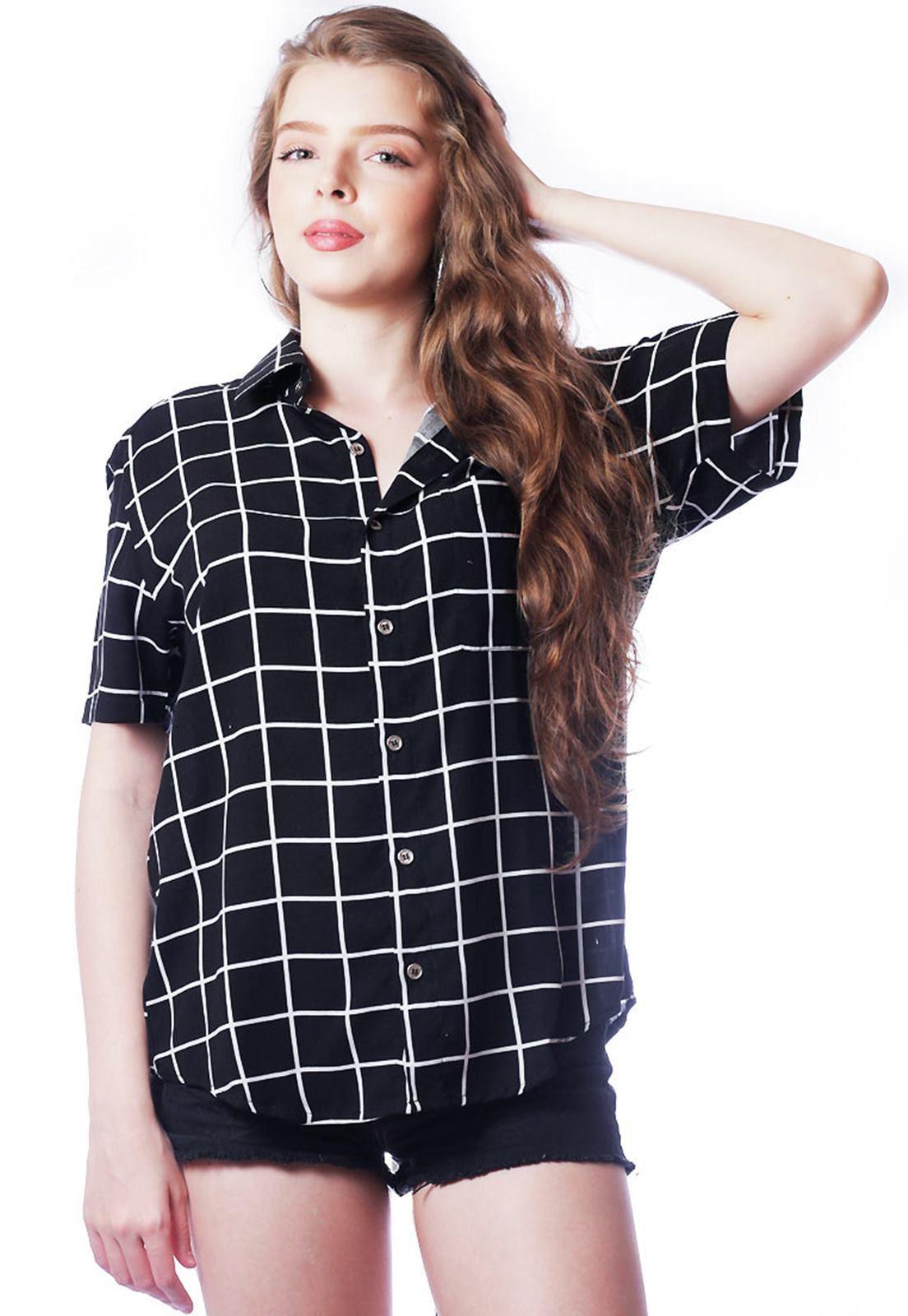 Camisa Listrada Elephunk Unissex Stripz Black Preta