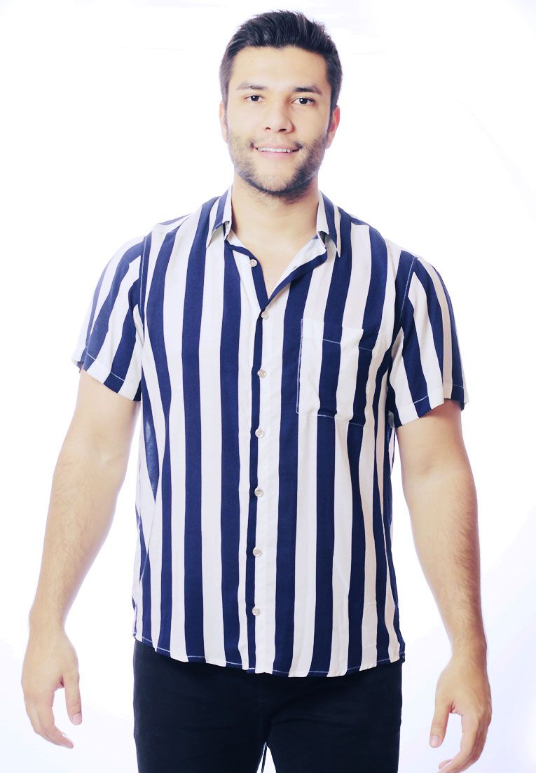 CAMISA LISTRADA UNISSEX STRIPZ BLUEBERRY