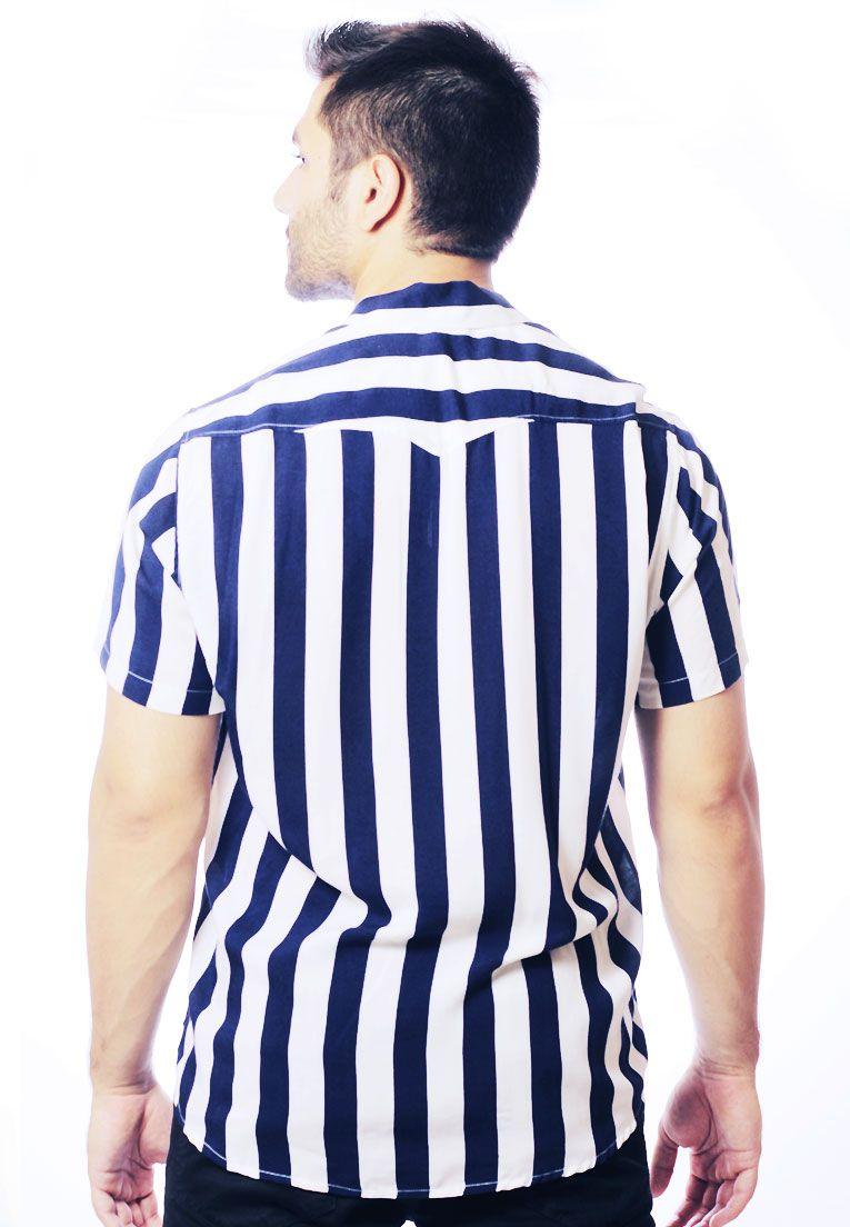 Camisa Listrada ElephunK Unissex Stripz Blueberry Azul