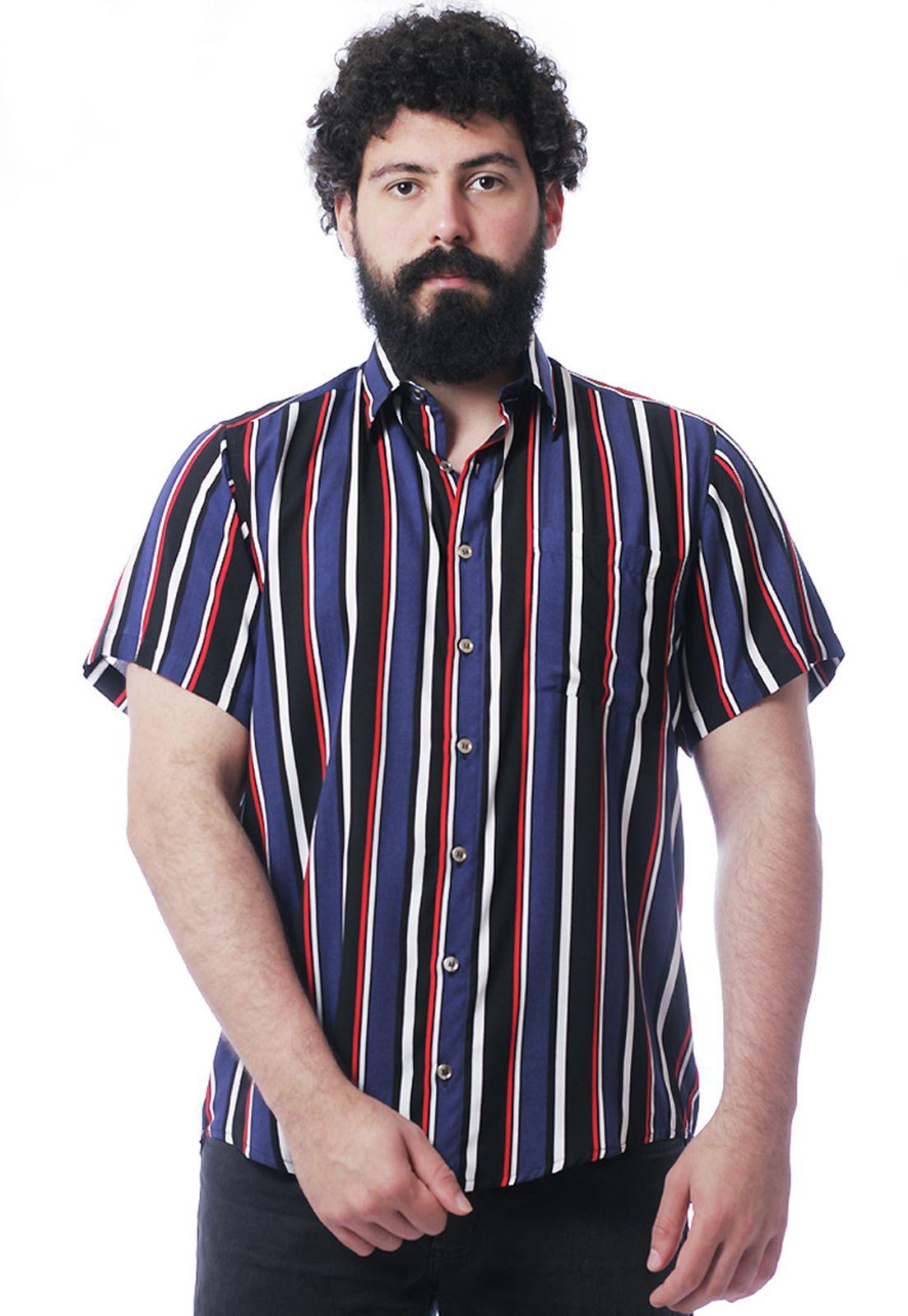 Camisa Listrada ElephunK Unissex Stripz One Azul Escuro