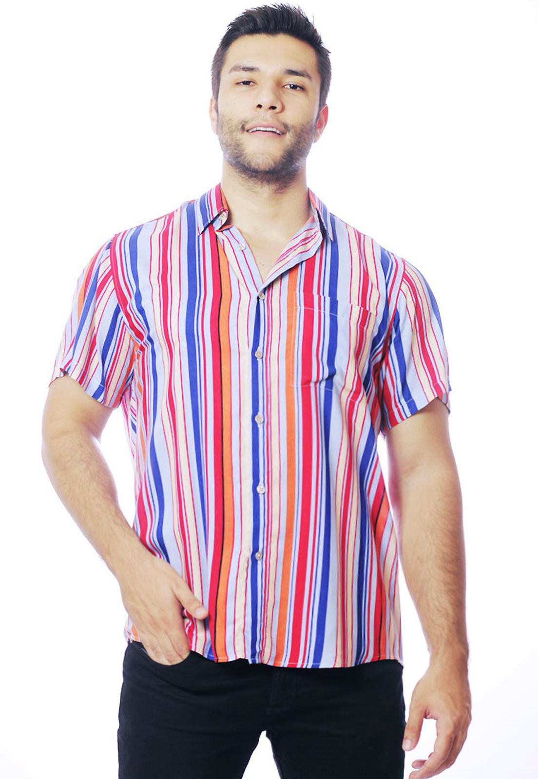 Camisa Listrada ElephunK Unissex Stripz Rumba Rosa