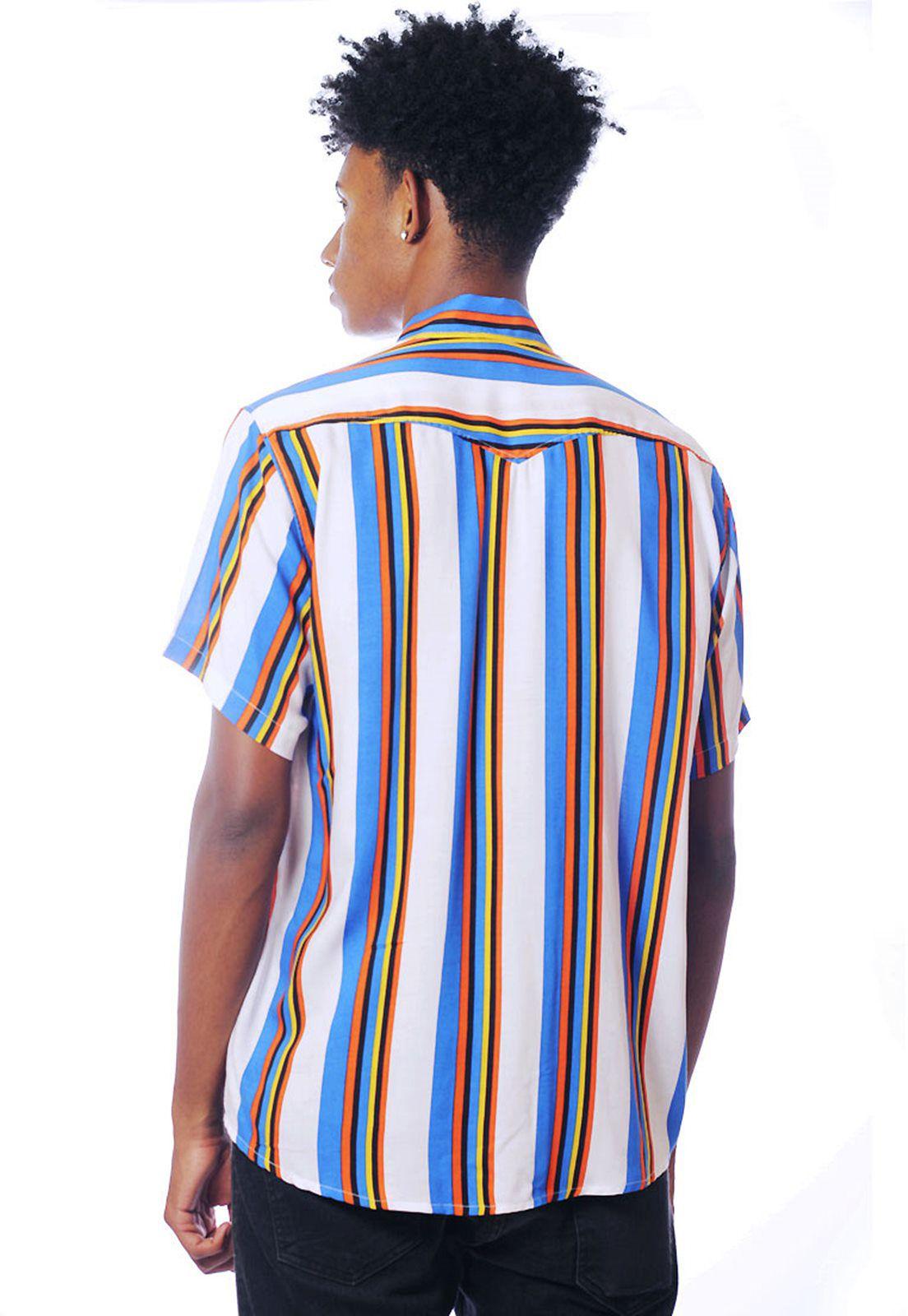 Camisa Listrada ElephunK Unissex Stripz Sixteen Azul Clara