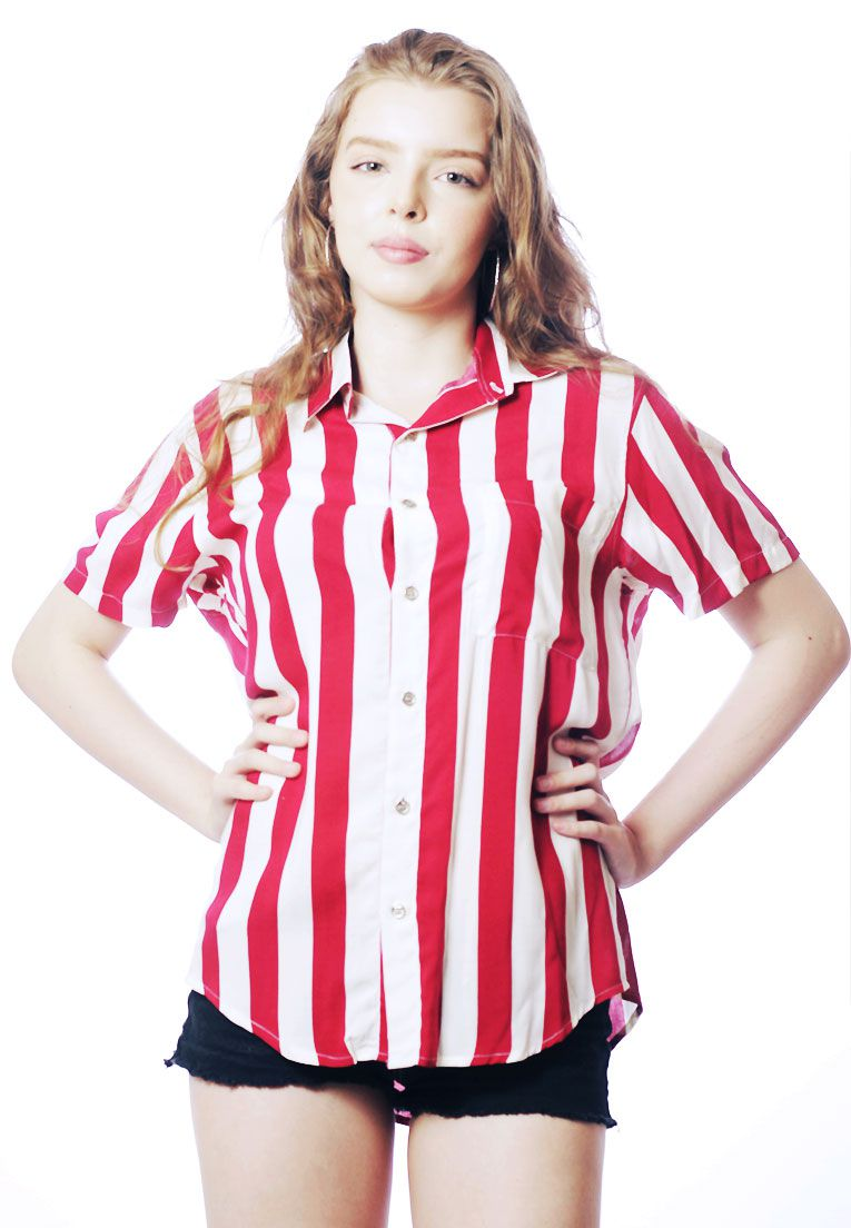 CAMISA LISTRADA UNISSEX STRIPZ STRAWBERRY