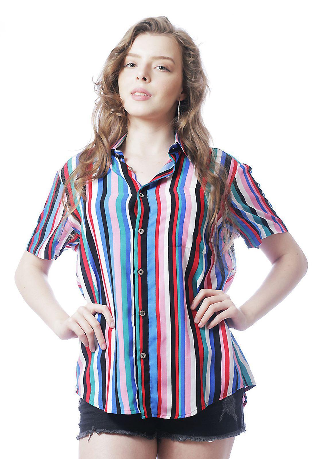 Camisa Listrada ElephunK Unissex Stripz Two Azul Claro
