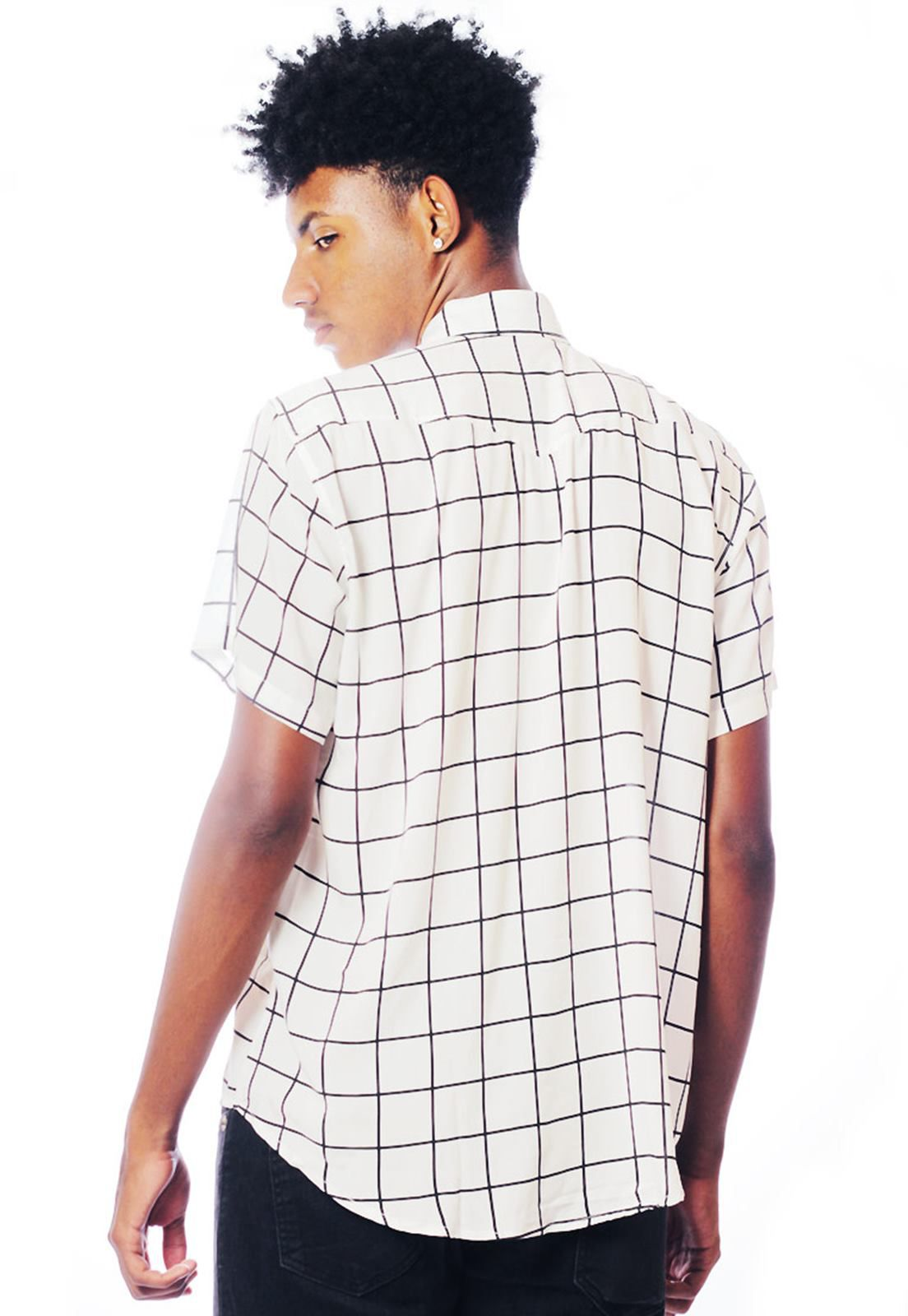 Camisa Listrada ElephunK Unissex Stripz White Branca