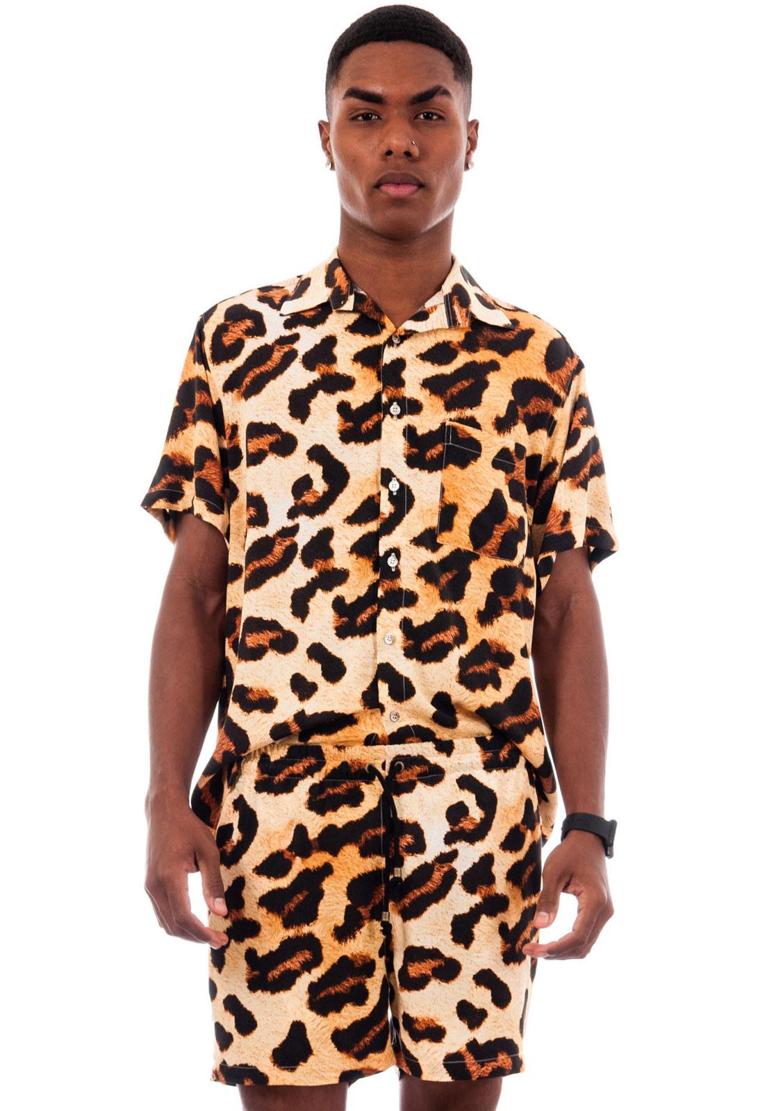 Camisa Oncinha Animal Print Estampada ElephunK Onça Power Amarela