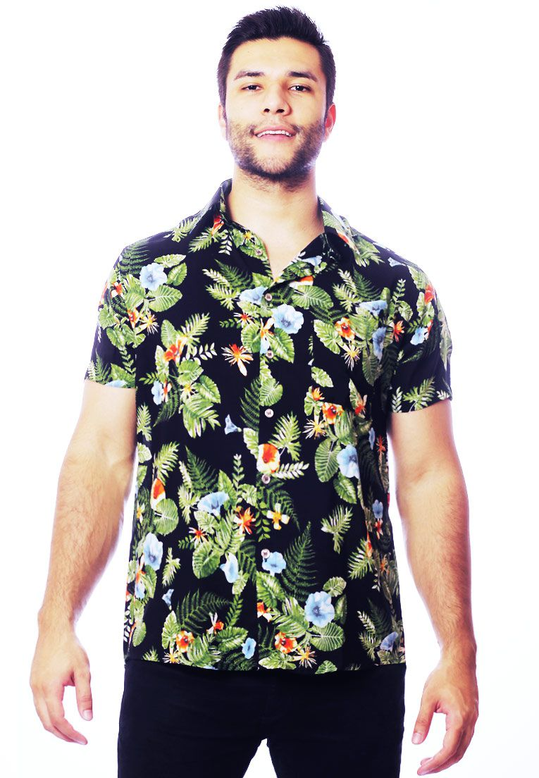 CAMISA TROPICAL ESTAMPADA UNISSEX CAETANO