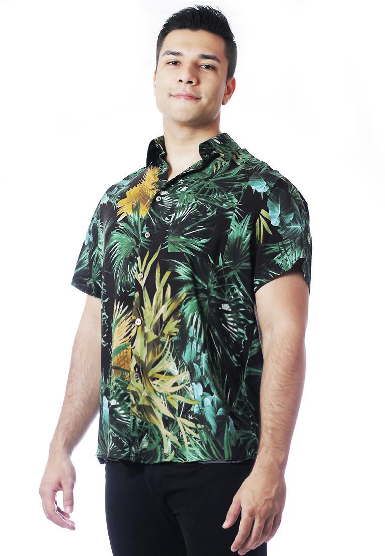 CAMISA TROPICAL ESTAMPADA UNISSEX SAFARI