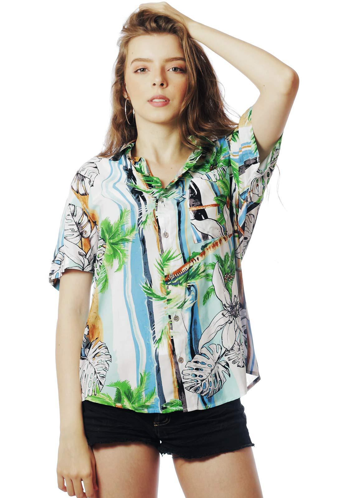 Camisa Verão Estampada ElephunK Cuba Verde