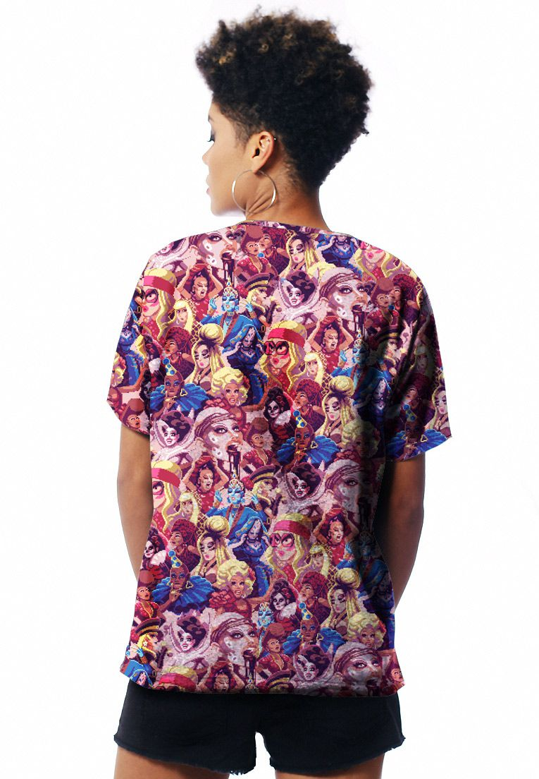CAMISETA DRAG RACE ESTAMPADA FULL PRINT UNISSEX WINNERS