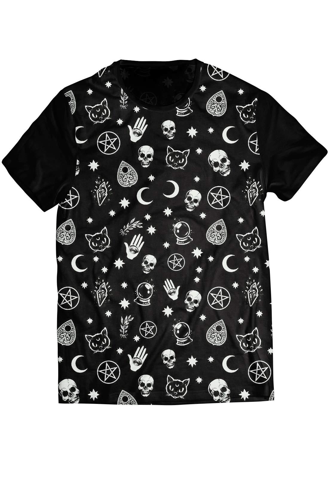 Camiseta ElephunK Estampada Black Magic Preta