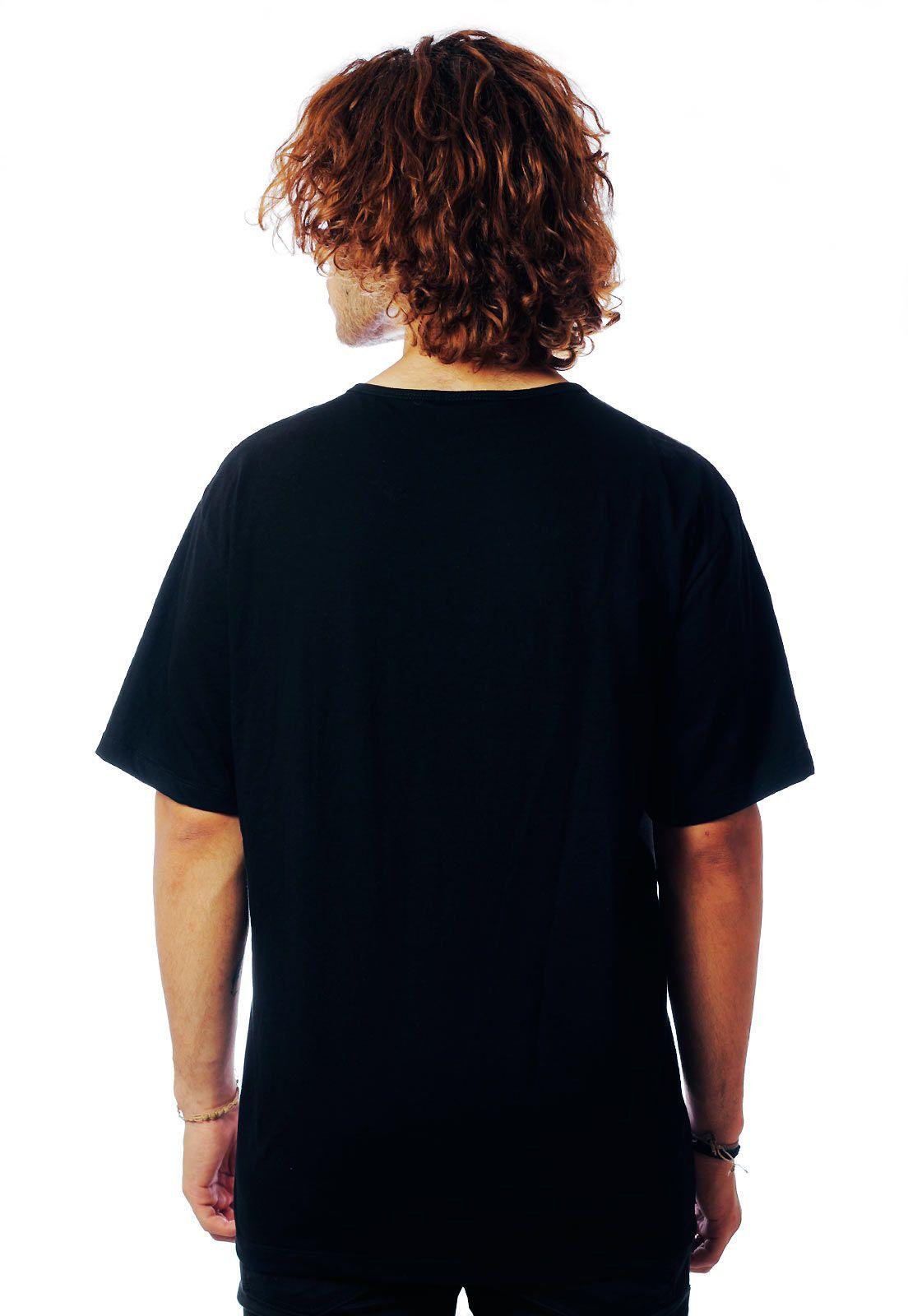 Camiseta ElephunK Estampada Gatinhos Gatos CatLovers Preta
