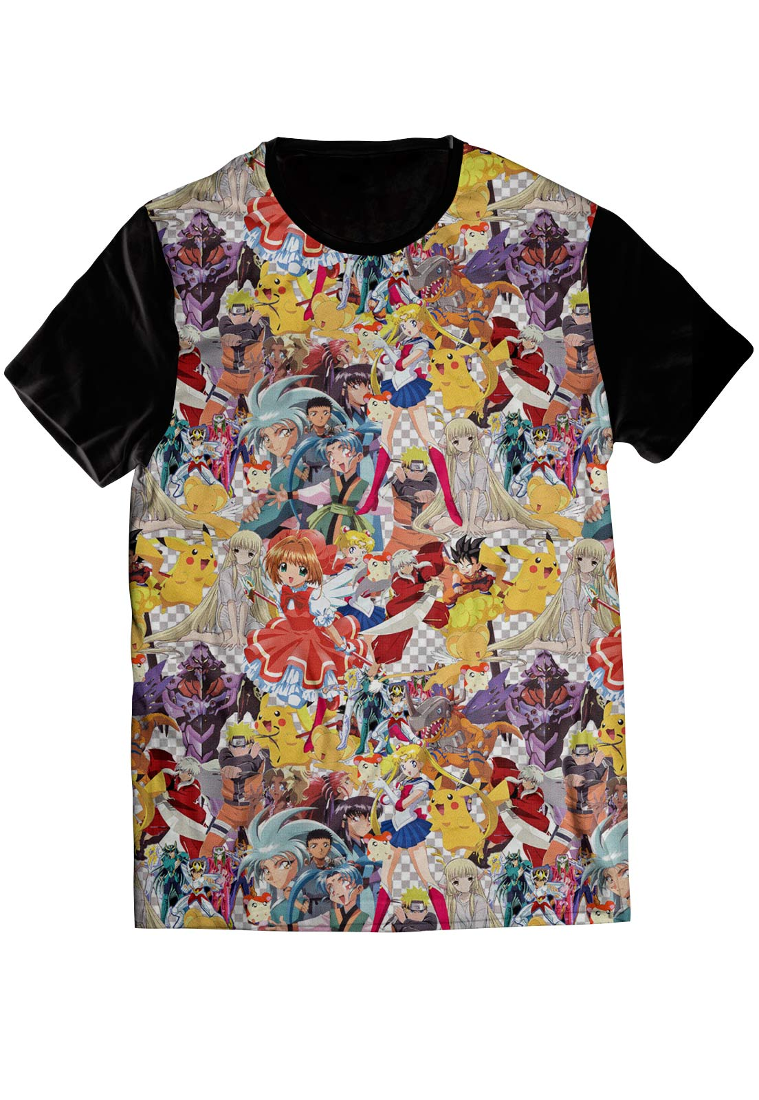 Camiseta ElephunK Estampada Geek Anime Lovers Preta
