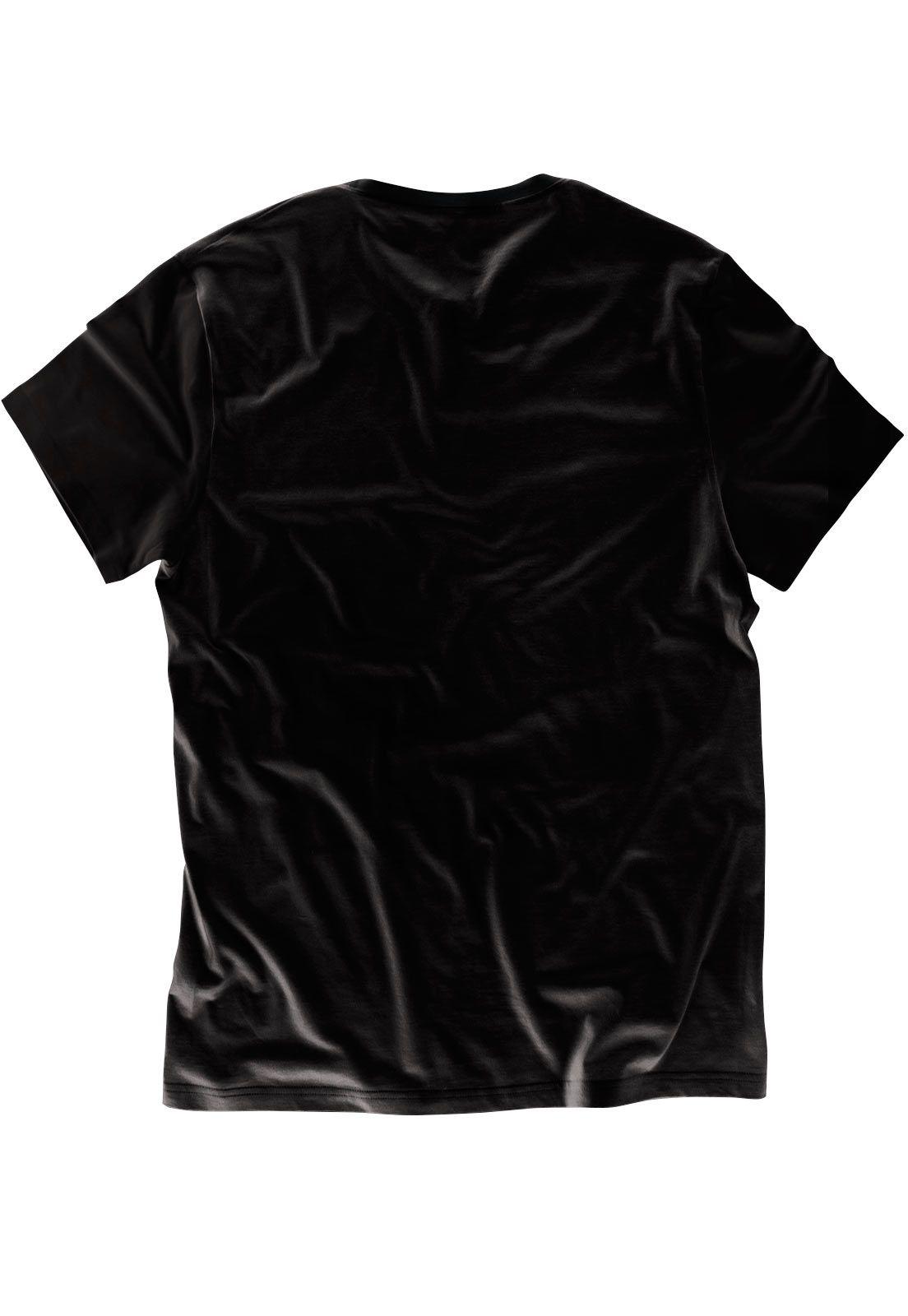 Camiseta ElephunK Estampada Liberté, Egalité, Fraternité Preta