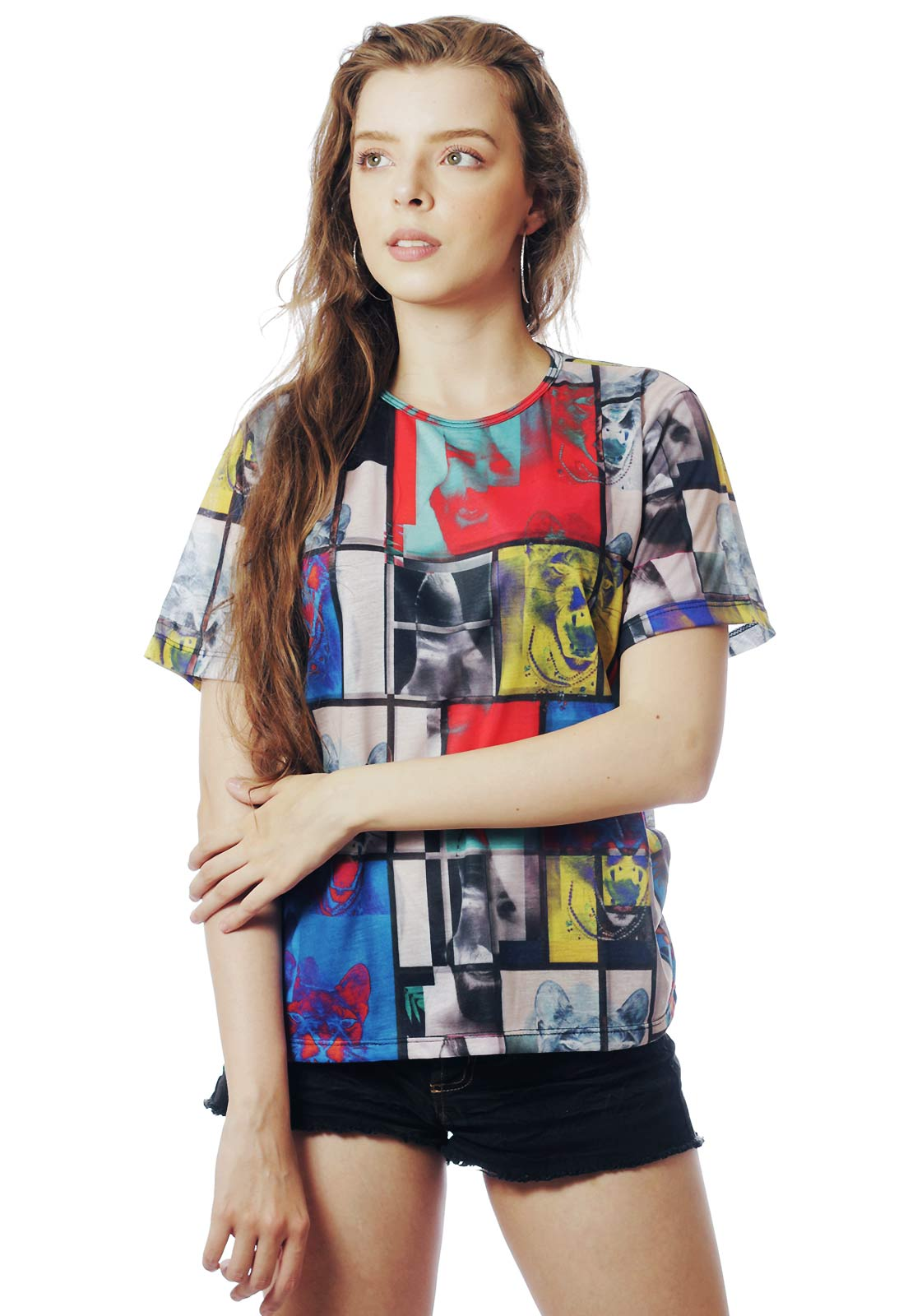 CAMISETA ESTAMPADA FULL PRINT UNISSEX JE SUIS L'ART