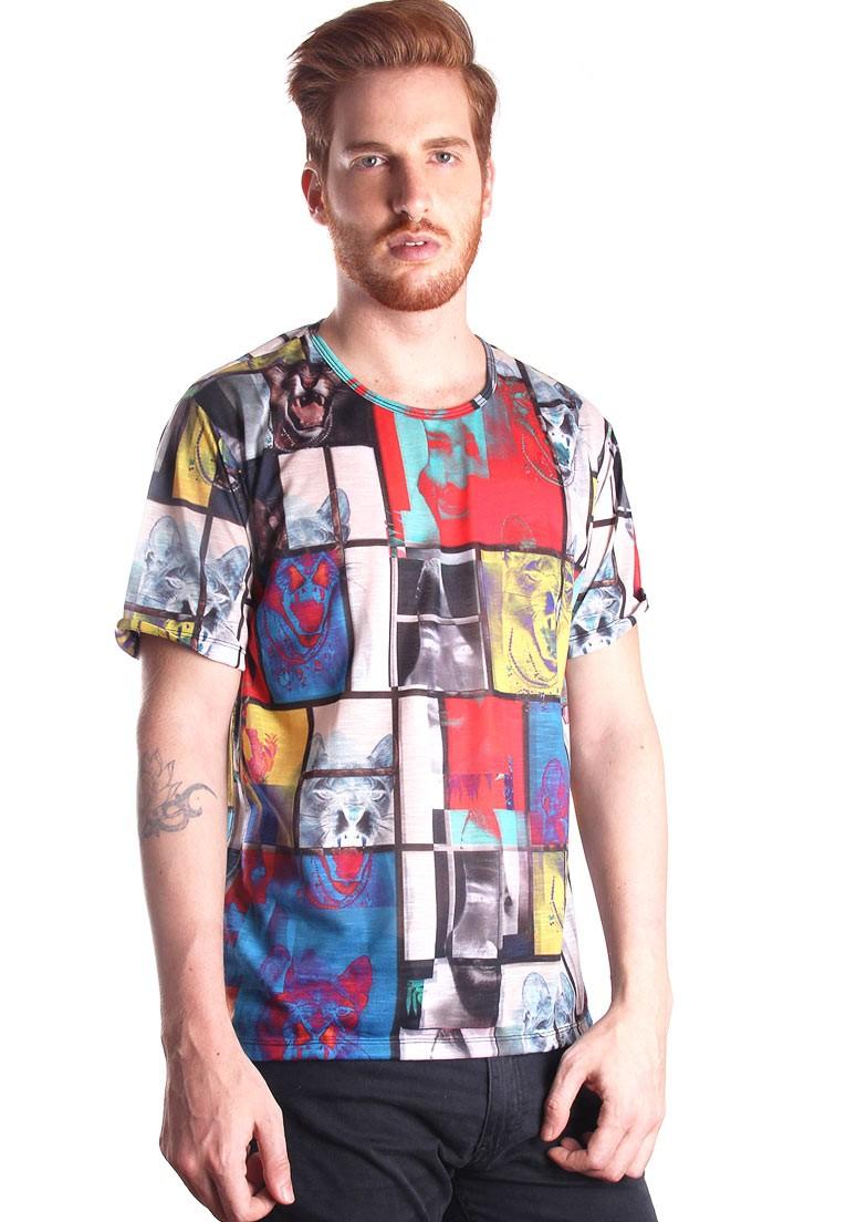Camiseta Estampada Full Print Unissex Je Suis L'art BF2