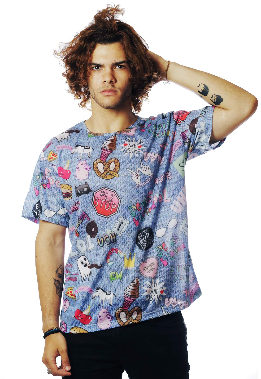 CAMISETA ESTAMPADA FULL PRINT UNISSEX LOL JEANS