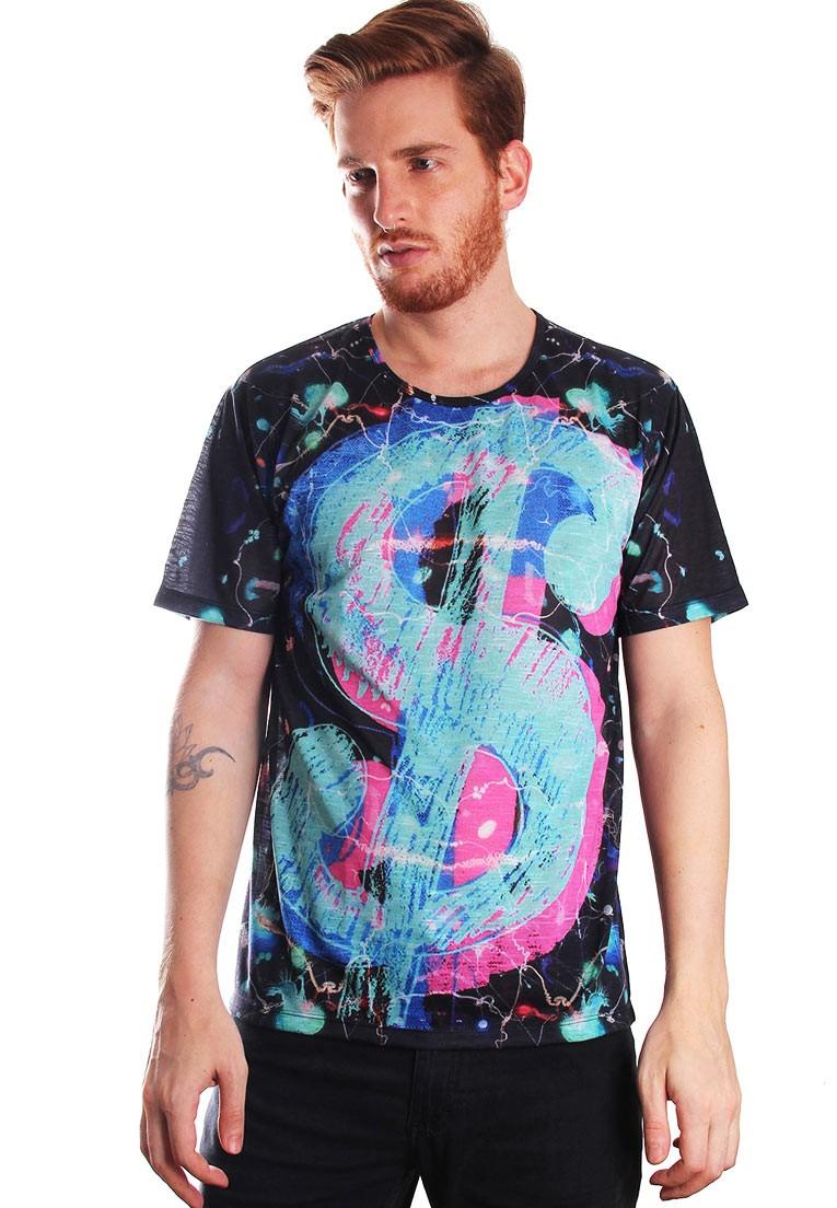 Camiseta Estampada Full Print Unissex Money Honey PopArt BF3