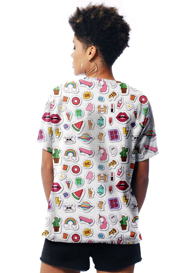 CAMISETA ESTAMPADA FULL PRINT UNISSEX PATCHES