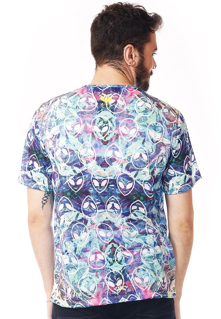 Camiseta Estampada Full Print Unissex Roupas Tumblr Aliens BF3