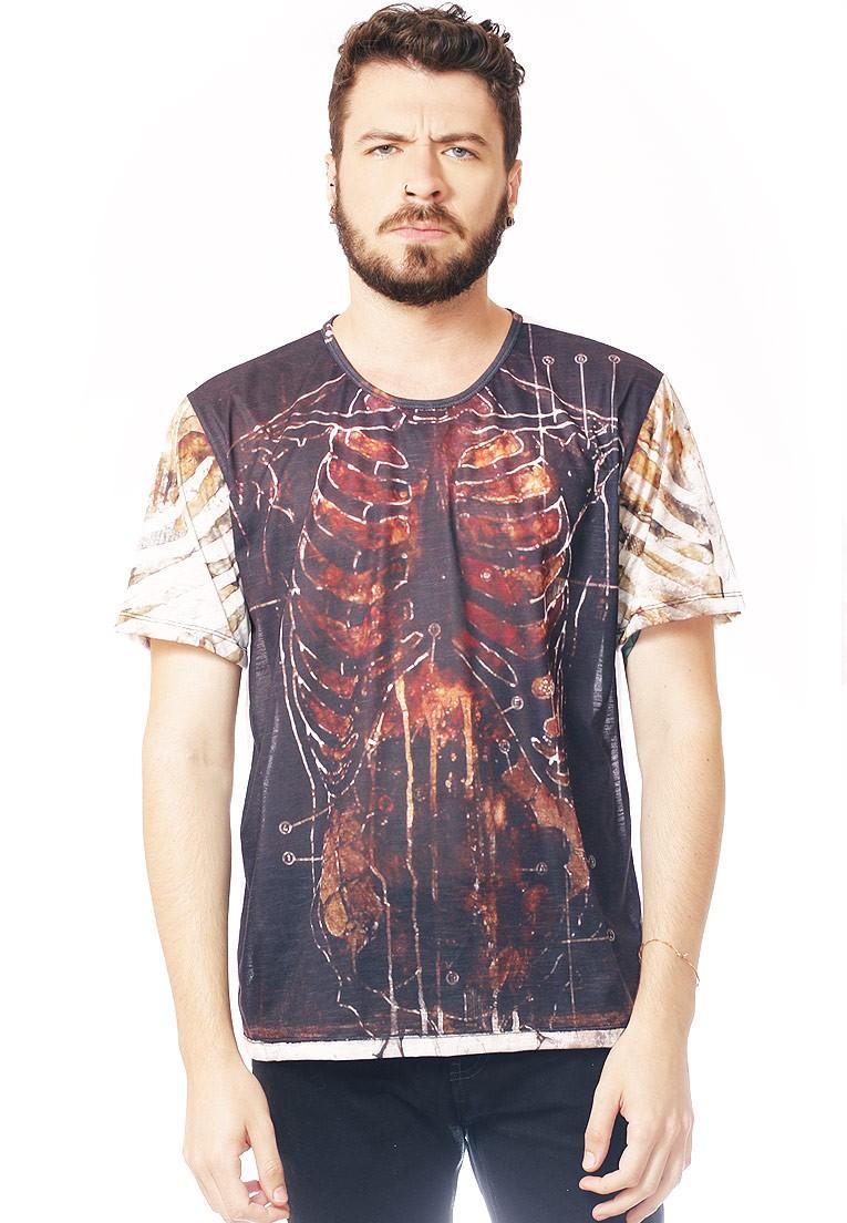 Camiseta Estampada Full Print Unissex Roupas Tumblr Human BF3