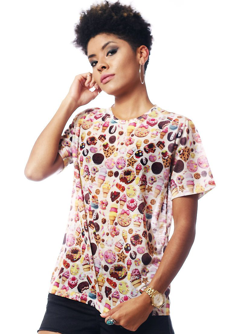 CAMISETA ESTAMPADA FULL PRINT UNISSEX ROUPAS TUMBLR KANDY COUTURE