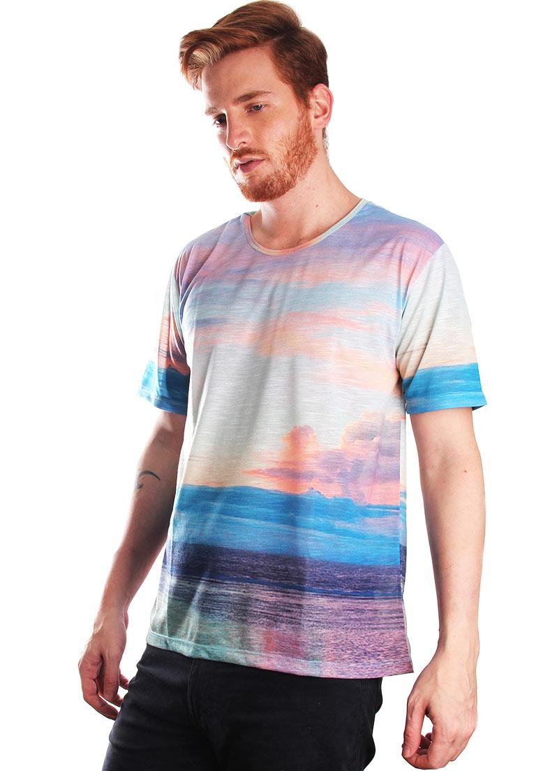 Camiseta Estampada Full Print Unissex Sea Landscape BF3