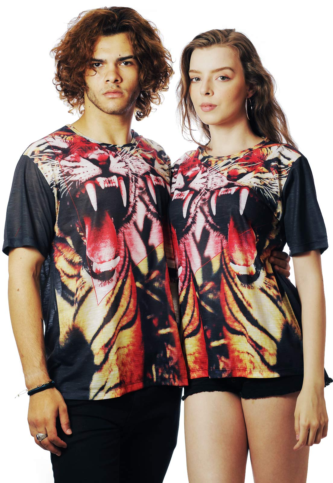 CAMISETA ESTAMPADA FULL PRINT UNISSEX TIGRE ASIAN