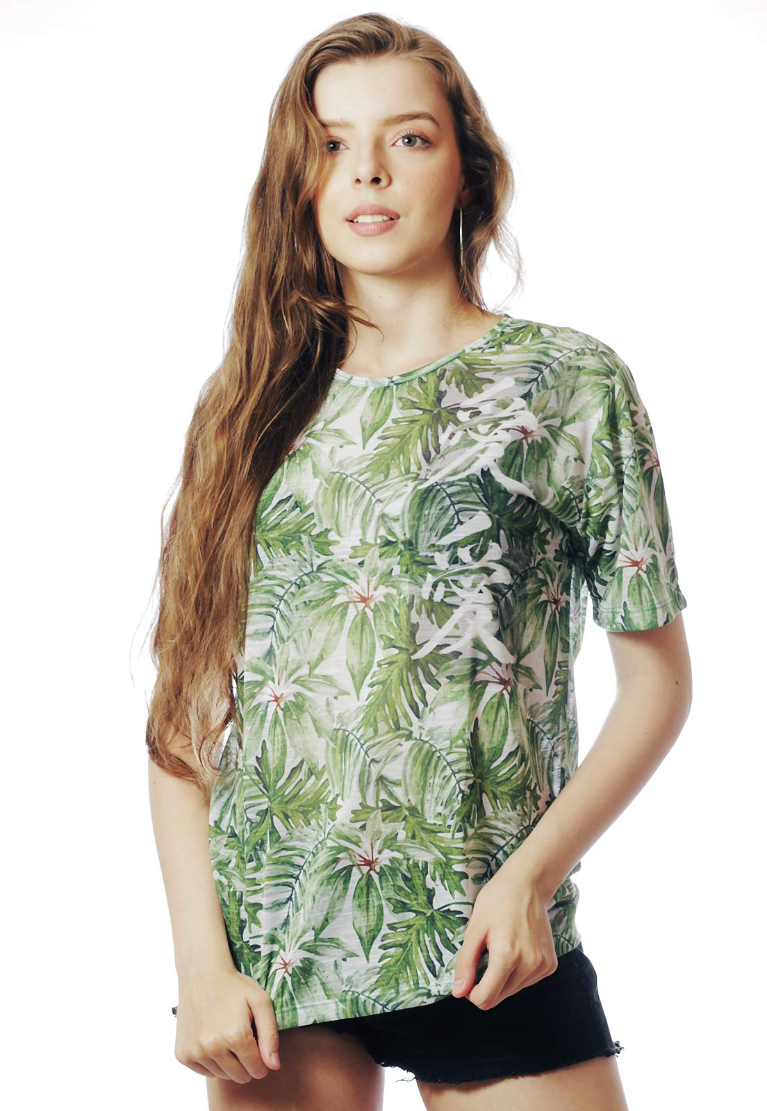 CAMISETA ESTAMPADA FULL PRINT UNISSEX TROPICAL FUN