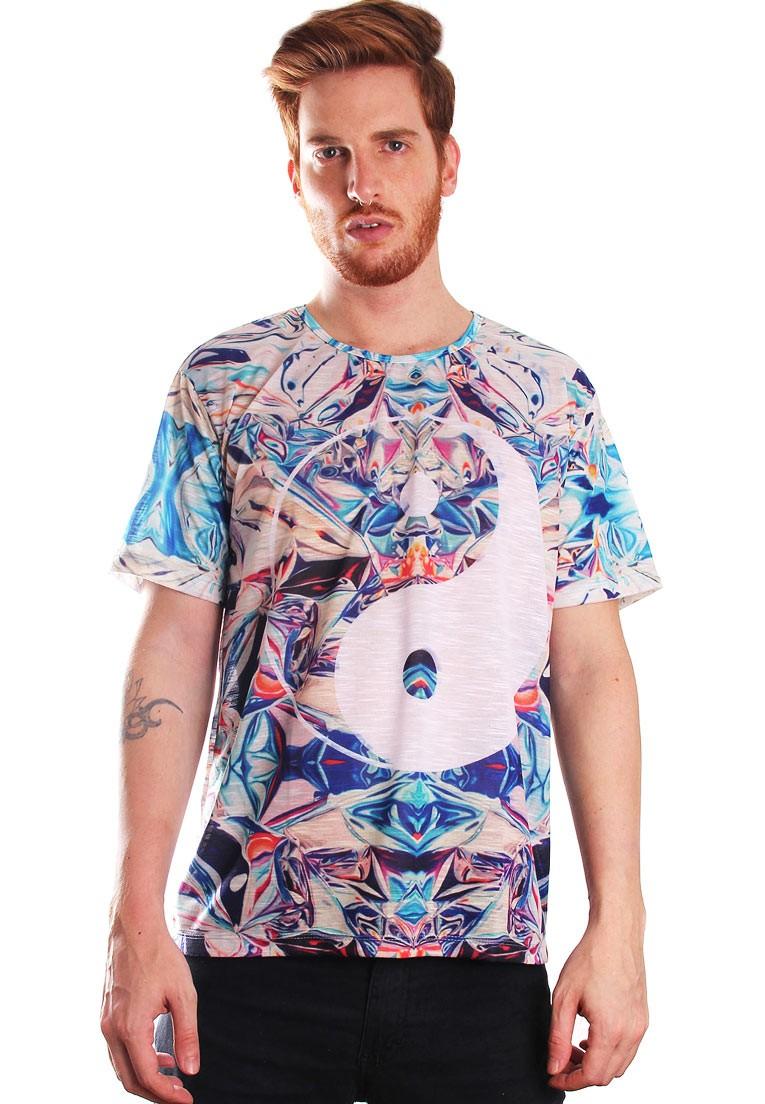 Camiseta Estampada Illuminati Full Print Unissex Chinese Yin Yang BF