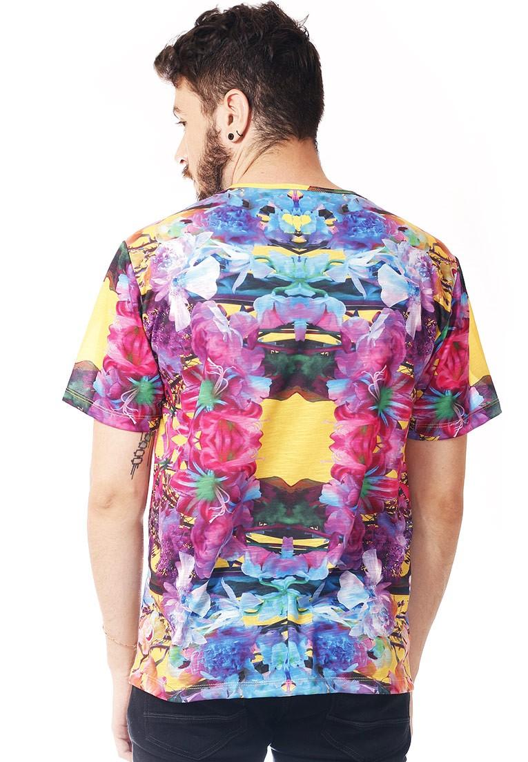 Camiseta Estampada Tigre Swag Full Print Unissex Neon Tiger BF2