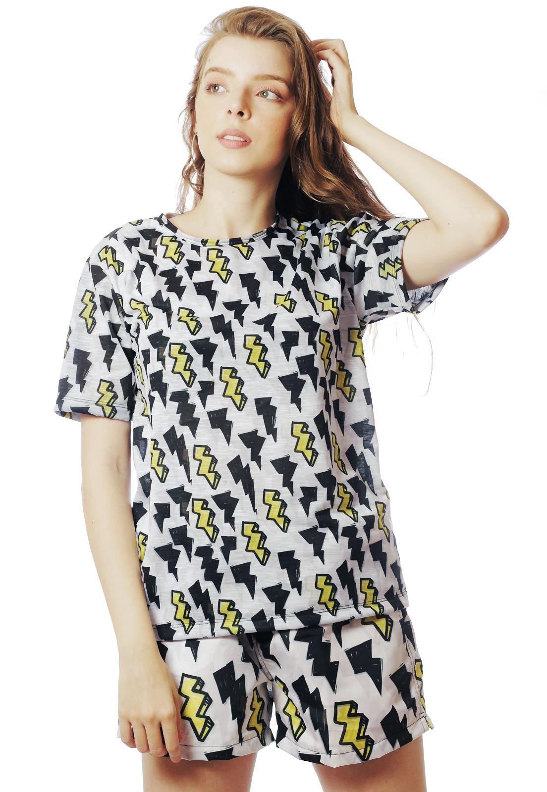 Camiseta Estampado Camisa Unissex Energy Raio BF3