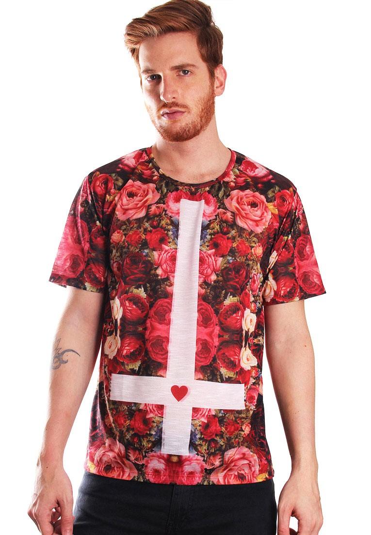 Camiseta Florida Estampada Full Print Unissex Floral Hipster BF